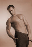 Muscular male model stock photos