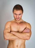 Muscular male model. Royalty Free Stock Photo