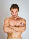 Muscular male model. Royalty Free Stock Images