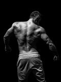 Muscular male model bodybuilder preparing for fitness training Royalty Free Stock Photography