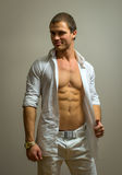 Muscular male model. royalty free stock photos