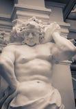 Muscular male statue Stock Photo