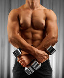 A muscular male torso Stock Photography