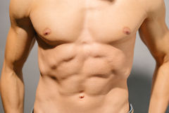 Muscular male torso. Sexy muscular male torso , close-up Royalty Free Stock Photo