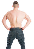 Muscular male with a wide back Royalty Free Stock Images