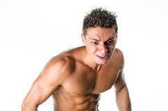 Muscular man angry Royalty Free Stock Photos