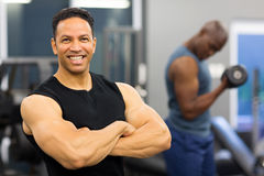 Muscular man arms crossed Stock Photography