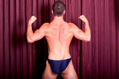 Muscular man back muscles Royalty Free Stock Images