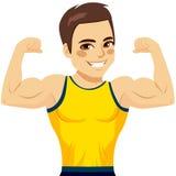Muscular Man Biceps Stock Photo