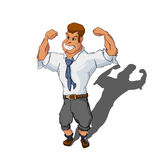Muscular man in business suit Stock Photo