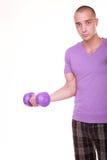 Muscular man doing lifting Stock Photos