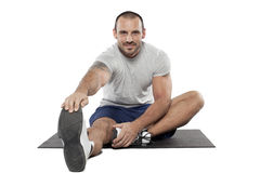 Muscular man exercise fitness sport Royalty Free Stock Photos