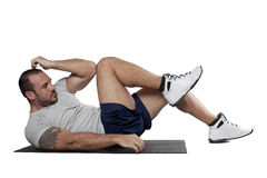 Muscular man exercise fitness sport Royalty Free Stock Photography