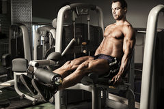 Muscular man exercising Stock Photography