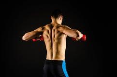 Muscular man exercising royalty free stock photo
