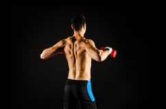 Muscular man exercising Royalty Free Stock Images