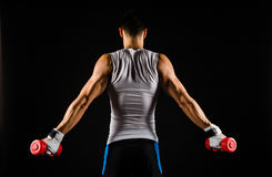 Muscular man exercising Royalty Free Stock Photos