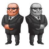 Muscular man in glasses and suit, strong bodyguard Royalty Free Stock Photo