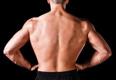 Back of a muscular man Royalty Free Stock Photo