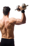 Muscular man isolated on the white background Stock Images