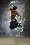 Muscular Man Jumping Stock Photos