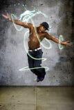 Muscular Man Jumping Royalty Free Stock Photos