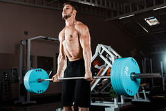 Muscular Man Lifting Deadlift Royalty Free Stock Photo