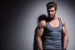 Muscular man looks away Stock Image