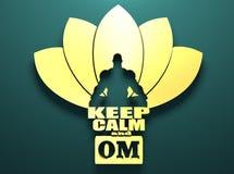 Muscular Man Meditation. Stock Image