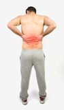 Muscular man with muscle pain Royalty Free Stock Photography