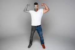 Muscular man - opposite Royalty Free Stock Image