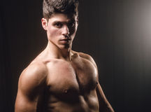 Muscular man portrait Stock Photo