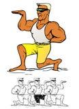 Muscular man posing Stock Photos
