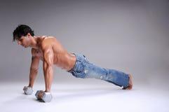 Muscular  Man Push ups Royalty Free Stock Images