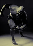 Muscular man running Royalty Free Stock Photography