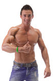 Muscular Man Showing Thumbs Up Sign Stock Photography