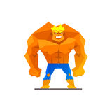 Muscular man shows his strength vector Royalty Free Stock Images
