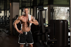 Muscular Man With A Towel On His Shoulders Stock Image