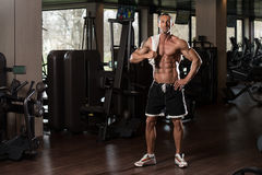 Muscular Man With A Towel On His Shoulders Royalty Free Stock Photography