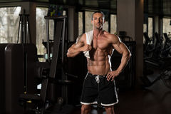 Muscular Man With A Towel On His Shoulders Stock Photos