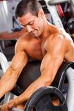 Muscular man training Stock Photos