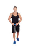 Muscular man training Royalty Free Stock Image