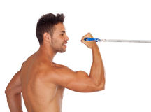 Muscular man training Royalty Free Stock Photo
