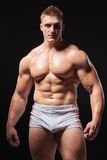 Muscular man in underwear Stock Photo