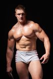 Muscular man in underwear Royalty Free Stock Images