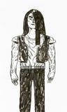 Muscular man watercolour Royalty Free Stock Photo