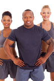 Muscular man women Royalty Free Stock Images
