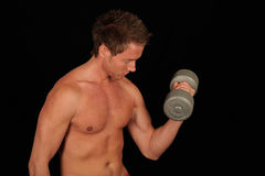 Muscular man working out Royalty Free Stock Photos