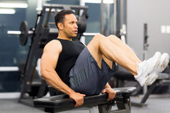 Muscular man working out Royalty Free Stock Image