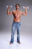 Muscular  Man Workout Stock Photos